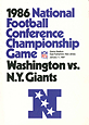 1986 NFC Championship Media Guide